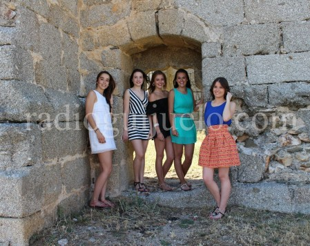 Las Damas de las Fiestas en el Torreón de Guijuelo.