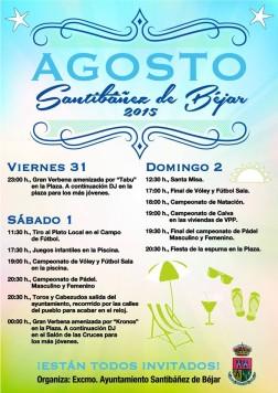 Cartel fiestas Santibañez
