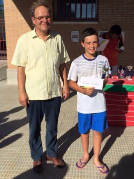 El tenista Mario Rodríguez. Foto Club guijuelense de tenis y padel.