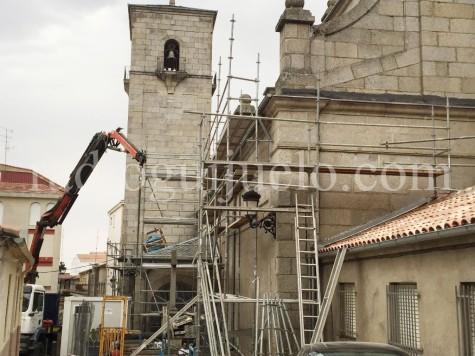 Obras en la iglesia Nuestra Señora de la Asunción.