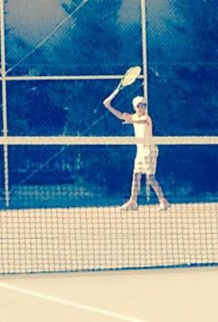 Paula Sánchez. Foto club Guijuelense de tenis y padel