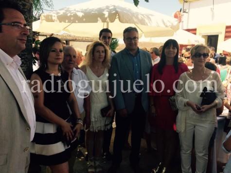 Representantes municipales de Guijuelo y Campillo en las fiestas del Carmen
