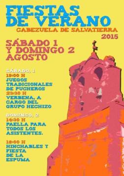 Cartel Fiestas Verano Cabezuela 2015