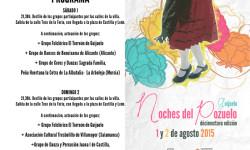 Cartel y programa Noches del Pozuelo 2015