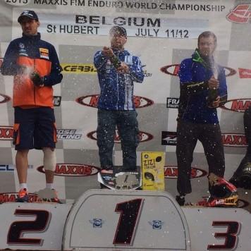 Lorenzo Santolino en el podium. Foto Santolino