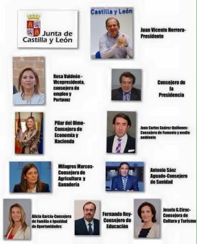 Nuevo equipo de Gobierno de la Junta. Foto Junta CyL