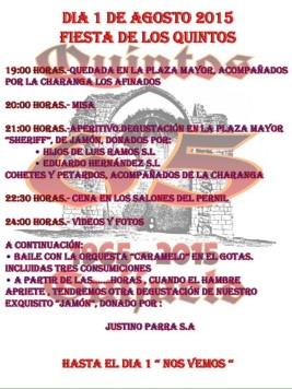 Programa de eventos de los Quintos del 65