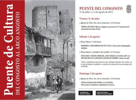 Programa cultural Puente del Congosto.