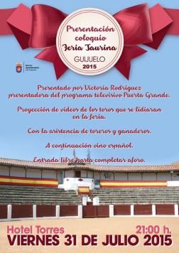 Cartel presentación toros 2015