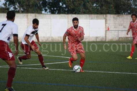 Néstor Gordillo en el partido amistoso ante el Mérida