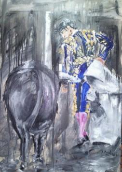 Imagen taurina que se podrá ver en la exposición del Hotel Torres