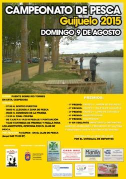 Cartel campeonato pesca Guijuelo 2015.
