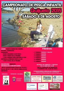 Cartel campeonato infantil pesca Guijuelo 2015.