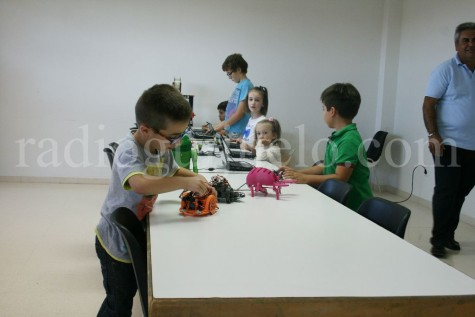 Demostración de la actividad de robótica educativa.