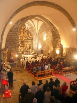 Iglesia de San Miguel Arcangel en Ledrada. Foto mapasespana.net