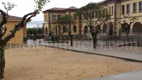 Patio del Colegio Filiberto Villalobos de Guijuelo.