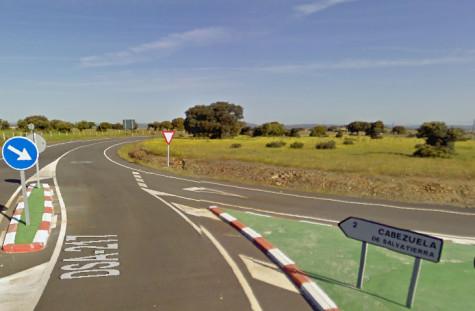 Cruce de Cabezuela. Foto Google Maps.