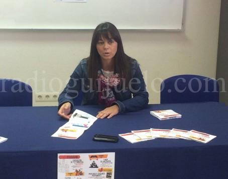 La concejal de Cultura Mª Jesús Moro en la presentación de la agenda cultural del mes de octubre.