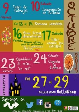MARTES agenda GUIJUE JOVEN Octubre