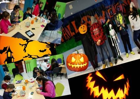 Jovenes participando del taller de Halloween de Guijuelo Joven