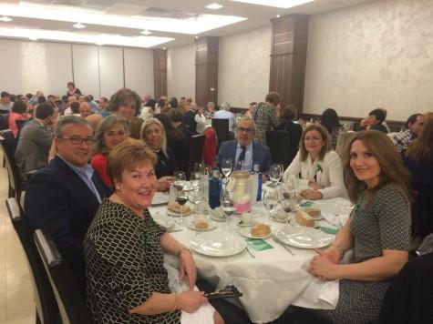 Participantes de la cena de la AECC de Guijuelo. Foto J.R.