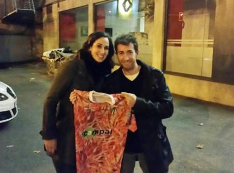 La guijuelense Silvia Sánchez junto al presentador del Hormiguero Pablo Motos.