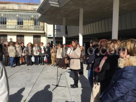 Lectura del manifiesto contra la Violencia de Género. Foto archivo