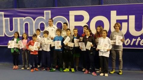 Ganadores del torneo de Otoño de Cabrerizos. Foto club guijuelense de tenis y pádel.