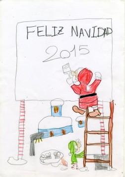 Postal de Alae Dahdouh del Colegio Miguel de Cervantes.