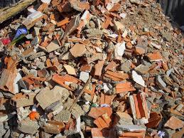 Escombros de construcción.