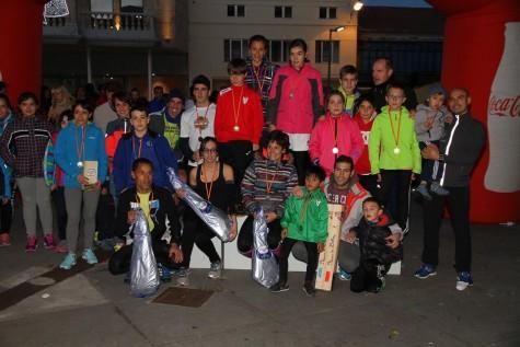 Ganadores de la IV edición del Jamón Veloz. Foto club atletismo Guijuelo.
