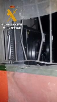 Robo en una fábrica de Ledrada. Foto Guardia Civil.