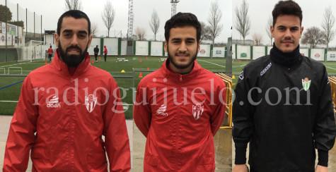 Antonio Pino, Ayub y Álvaro Peral ya entrenan con el Guijuelo.