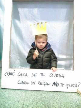 Diego Sánchez ganador del concurso de Photocall navideño.