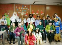 Visita de SSMM los Reyes Magos a la Residencia. Foto archivo