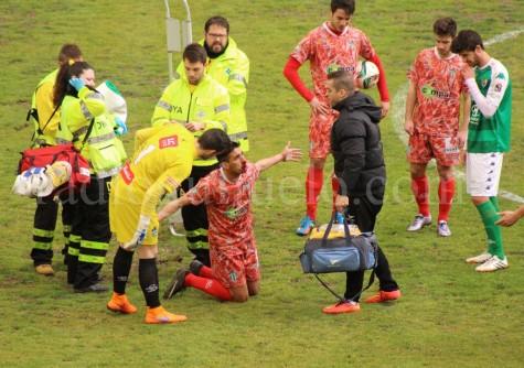 Antonio Moreno sufrió un fuerte golpe en la nariz.