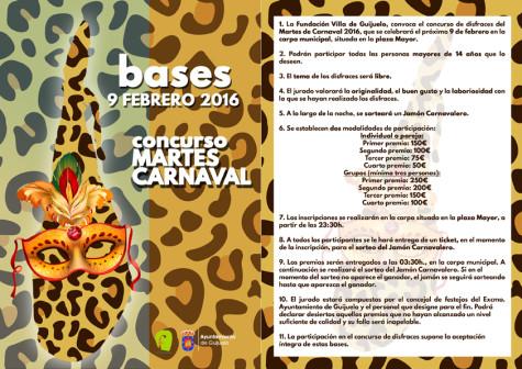 BASES CONCURSO MARTES CARNAVAL 16