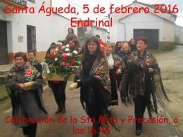 Águedas en Endrinal. Foto María Teresa García.