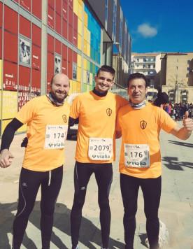 Integrantes del club atletismo de Guijuelo en la Media Maratón de Guijuelo.Foto club atletismo Guijuelo.