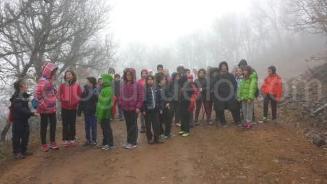 Participantes del Diviértete en Semana Santa en el Pico Cervero.