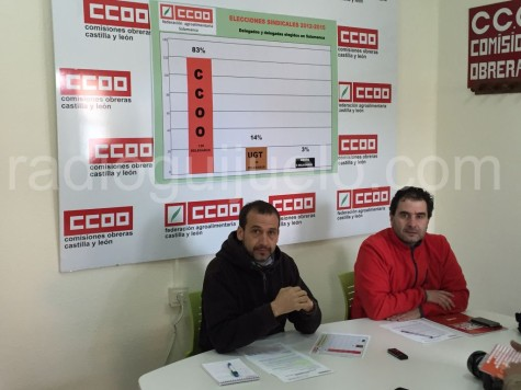 Representantes de CCOO.