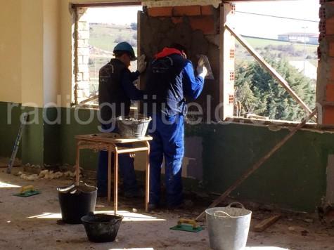 Trabajadores en Guijuelo.
