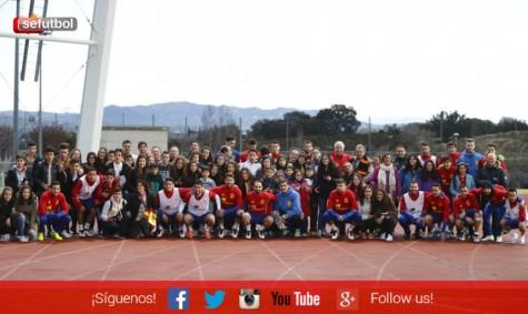 Aficionados de Guijuelo, Fuenterroble y Los Santos con la Selección.
