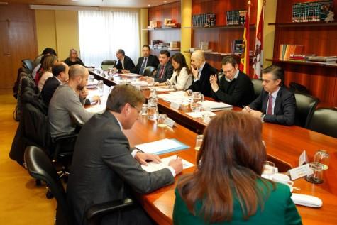 Reunión del grupo de trabajo sobre competencias de las mancomunidades de interés general. Foto Junta CyL