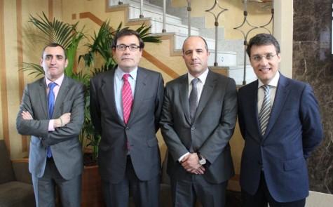 V. Almansa, C. Cabanas, C. Serrano y F. Miranda en la Asamblea anual de ANICE. Foto ANICE