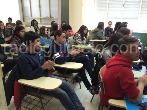 Alumnos del IES Vía de la Plata. Foto archivo.