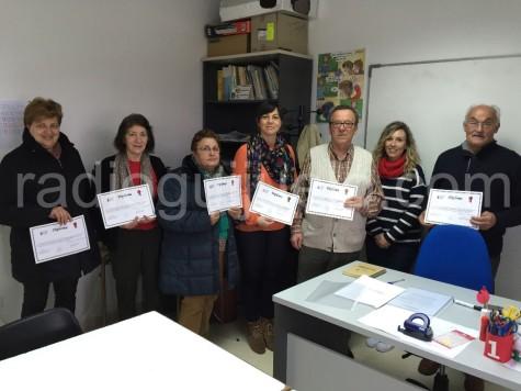 Alumnos del curso de smartphone en Guijuelo