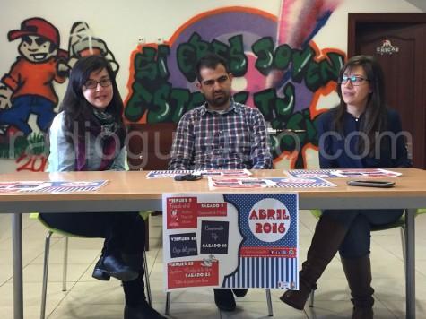 Presentación de la agenda de actividades del mes de abril en Guijuelo Joven.