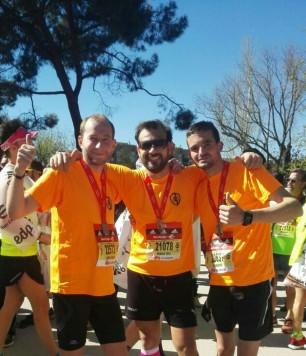Integrantes del club atletismo de Guijuelo.