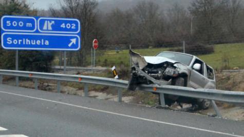 Accidente en Sorihuela. Foto lagacetadesalamanca.es